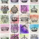 3x3 Inch Royalty Digital Collage Sheet JPG