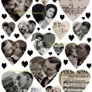 Hearts and Kisses Digital Collage Sheet JPG