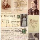 Post Card Ephemera Digital Collage Sheet JPG