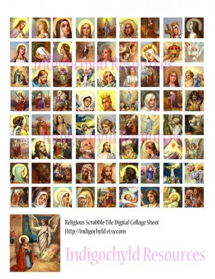 Religious Scabble Tile Digital Collage Sheet JPG