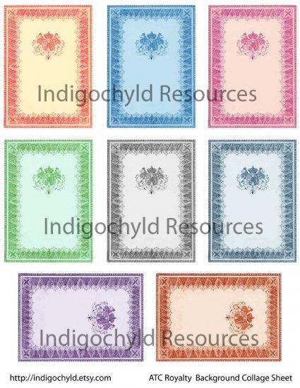 Royalty ATC Base Digital Collage Sheets JPG