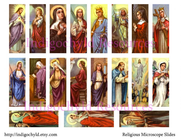 Religious Microslide Collage Sheet JPG