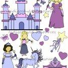 Princess Dolls Digital Collage Sheet JPG