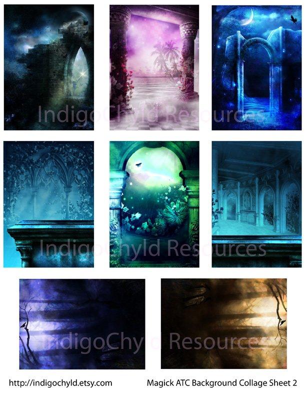 Magick ATC Digital Collage Sheet 2 JPG