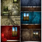 Empty Rooms Backgrounds Digital Collage Sheet JPG