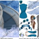 Heavenly Angel Paper Doll Kit Digital Collage Sheet JPG