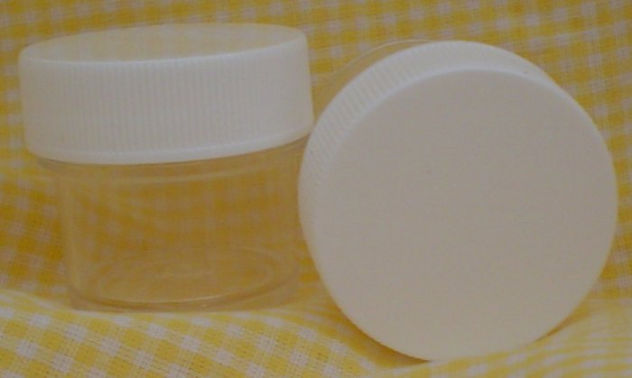 Sample Size Clear PET Jars with White Caps