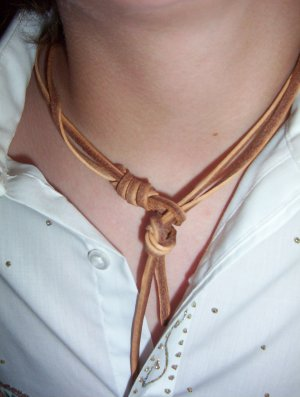 "14"" to 20"" Necklace Leather, Hangman's Strap-NEW HOT-FREESHIPPING"