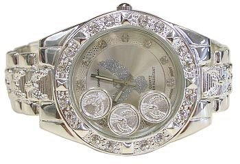 Hip-hop Floating  Eagle Bling Bling Watch