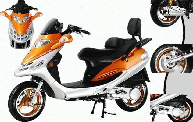 150cc - 4 Stroke Moped - Up to 50 MPH
