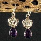 New Amethyst 925 Sterling Silver Earrings Set