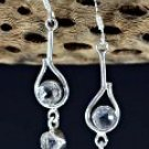 New Solid 925 Sterling Silver Earrings with Crystal Quartz Accents