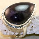 925 Sterling Silver Amethyst Ring Size 7.25
