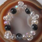 Crystal Faceted Beads Stretch Bracelet 7""