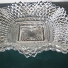Vintage Federal Glass Diamond Point Square Bon Bon Dish