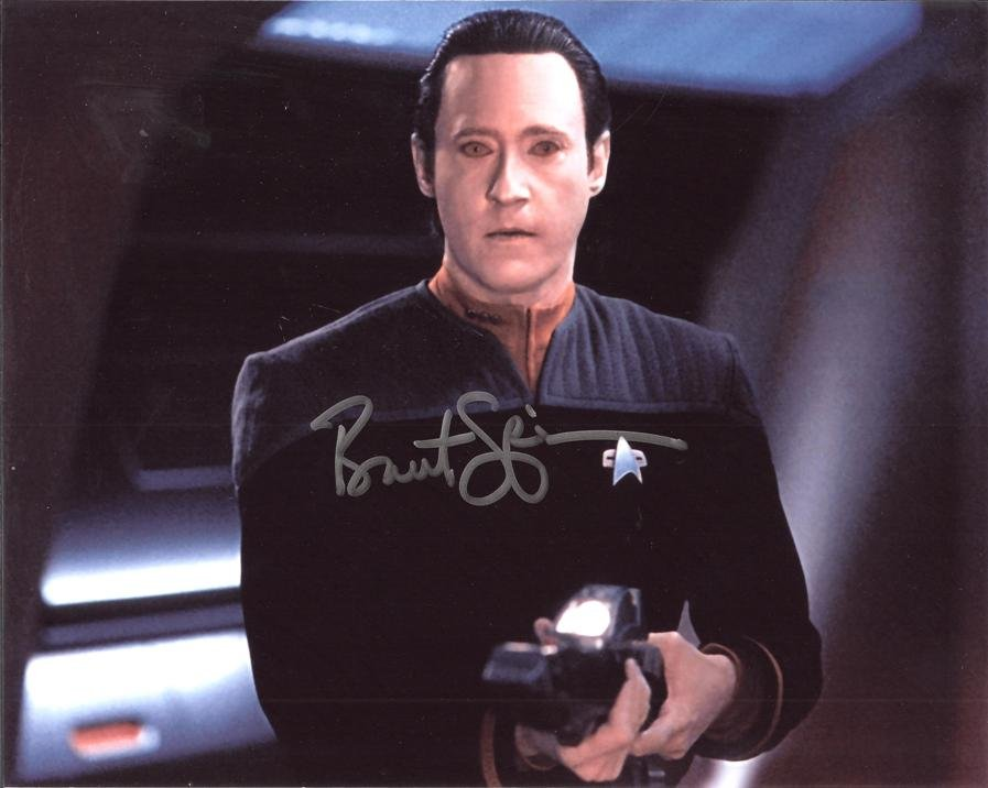"New Glossy Photo Brent Spinner as Data in Star Trek the Next Generation 8"" x 10"""