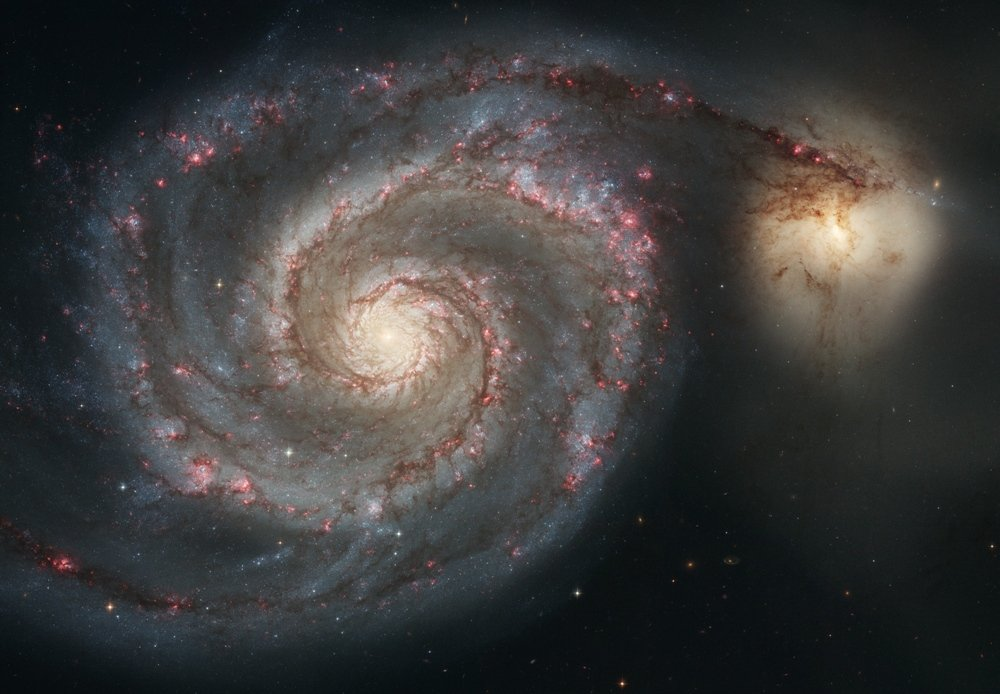 "Photo Whirlpool Galaxy from NASA Hubble Telescope 8"" x 10"""