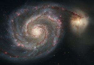 "Photo Whirlpool Galaxy from NASA Hubble Telescope 8"" x 10"""