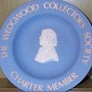 Vintage Wedgwood Jasperware Collectors Society Charter Member  Plate 1970