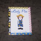 New On Card Pansy Lady Pin by Susan Paley for Ganz