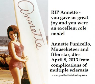 Free Thought For the Day: In Memoriam Mouseketeer and Film Star  Annette Funicello