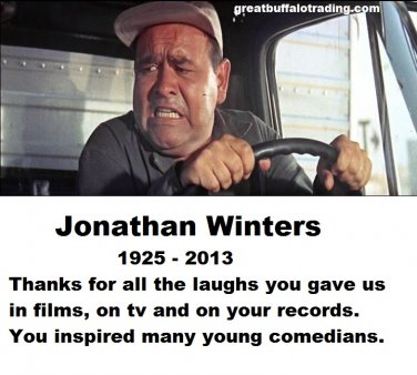 Free Thought For the Day: In Memoriam Jonathan Winters Actor, Comic, Artist