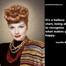 Free Thought For the Day: Lucille Ball on Knowing What Makes You Happy