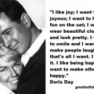 Free Thought For the Day: Doris Day I like Joy