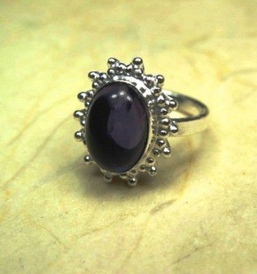 925 Sterling Silver Amethyst Ring Size 9