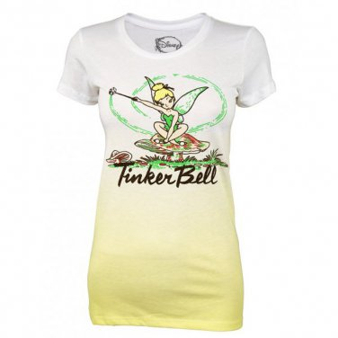 NewWhite Junior Disney Tinker Belle Mushroom Tee Shirt Size Large