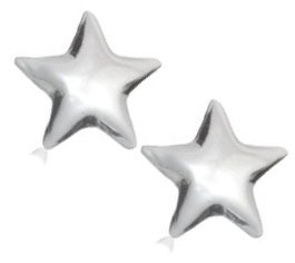 "Sterling Silver ""Star Stud"" Earrings"