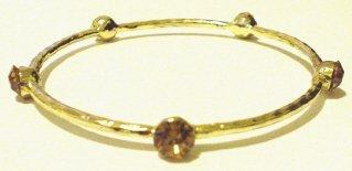 Crystal Studded Gold Tone Bracelet