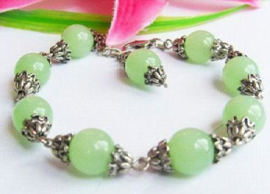 Tibetan Silver Jade Bracelet [style 1]