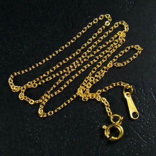 18K Gold Plated Cable Link Rolo Chain