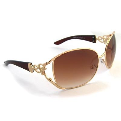 Tan Tinted Oversized Sunglasses [style 2]