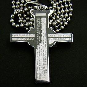 Christian Bible Cross Pendant Necklace