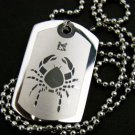 Silver Crab Cancer Zodiac Pendant Necklace