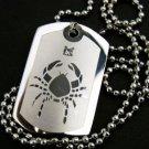 Silver Crab Cancer Zodiac Pendant Necklace
