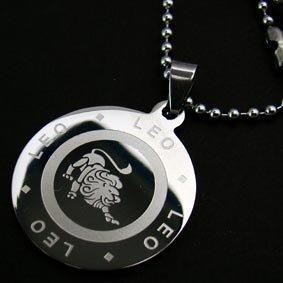 Zodiac Leo Lion Pendant Necklace