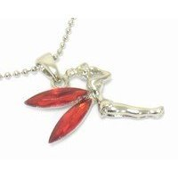 Red Tinkerbell Necklace