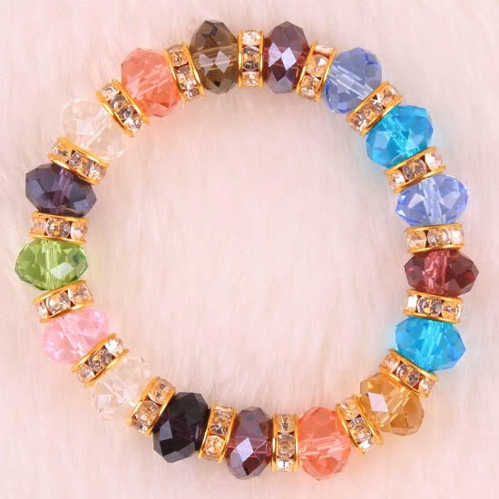 Rainbow Swarovski (Austrian) Crystal Bracelet