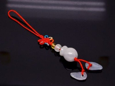 Chinese Knot & Jade Cell Phone Charm [style5]