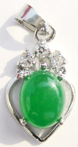 Silver Jade Crystal Pendant Necklace [style1]