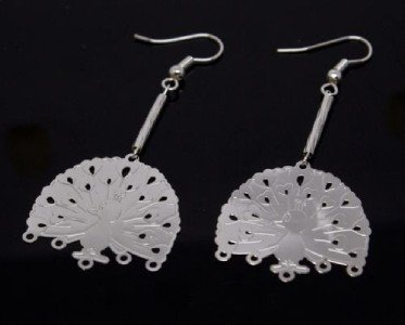 Silver Peacock Earrings [style1]