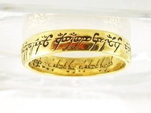 """14KGP Lord of the Rings """"One Ring"""" Replica"""