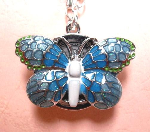 Blue Butterfly Watch Necklace