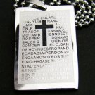 Christian Bible Cross Dogtag Pendant Necklace