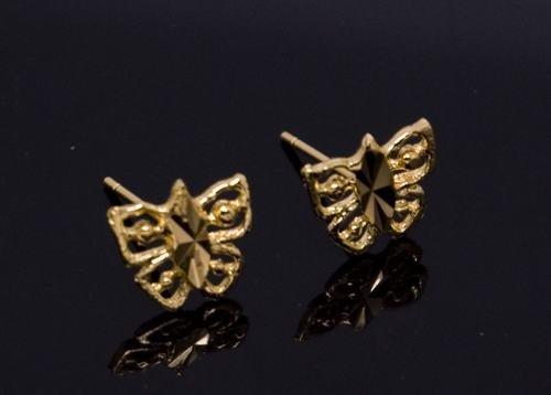 18K Gold Plated Butterfly Stud Earrings