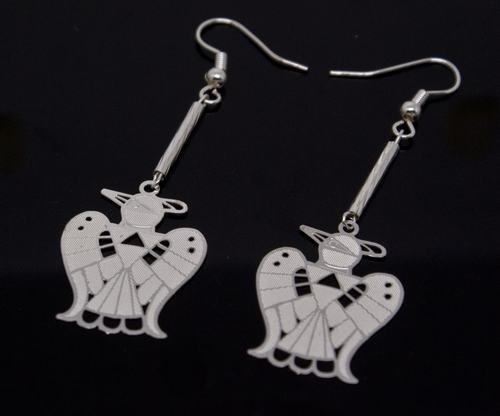 Silver Aztec Mayan Bird Earrings [style1]