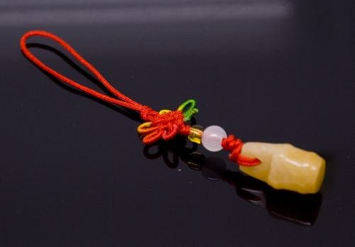 Chinese Knot & Jade Cell Phone Charm [style10]